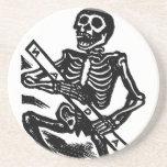 Skeleton, circa 1951 Mexico. Beverage Coaster
