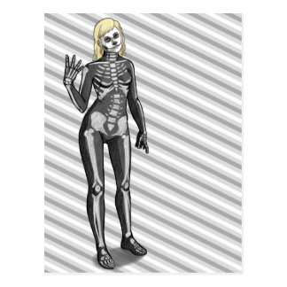 Skeleton Costume Postcard