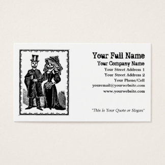Skeleton Couple - Business Card (Customize)