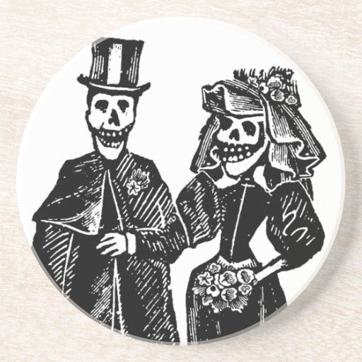 Skeleton Couple - Coaster