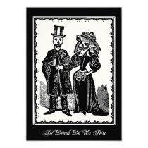 "Skeleton Couple - Invitation 5"" X 7"" Invitation Card"