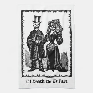 Skeleton Couple - Ktichen Towel (Customize)