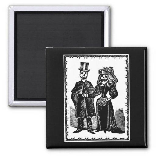 Skeleton Couple - Magnet #1 (Customize)