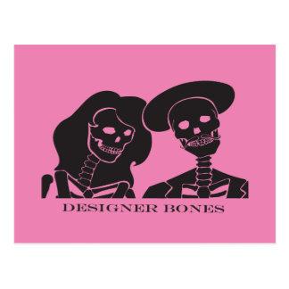 Skeleton Couple Postcard