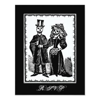 Skeleton Couple (RSVP) - Small Invitation