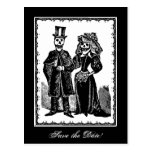 Skeleton Couple (Save The Date) - Postcard