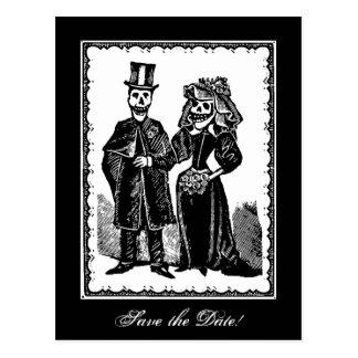 Skeleton Couple (Save The Date) - Postcard