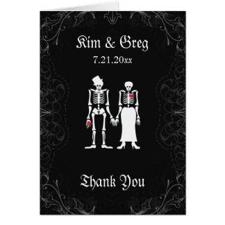 Skeleton Couple Thank You Card