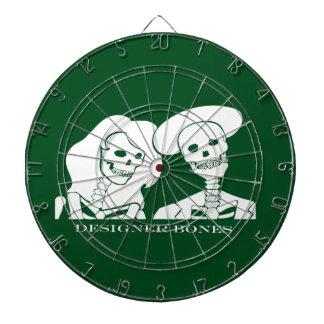 Skeleton Couple White Design Dart Board
