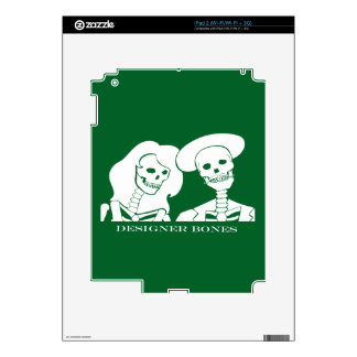 Skeleton Couple White Design iPad 2 Decals