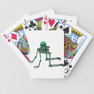 Skeleton Creepy Yoga Skull Dancing Bicycle Playing Cards
