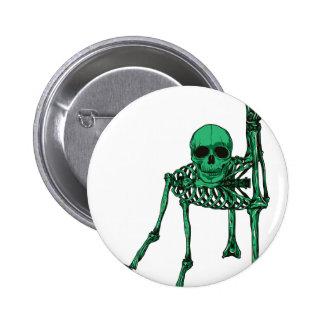 Skeleton Creepy Yoga Skull Dancing Button
