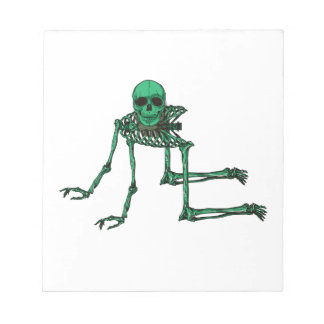 Skeleton Creepy Yoga Skull Dancing Notepad