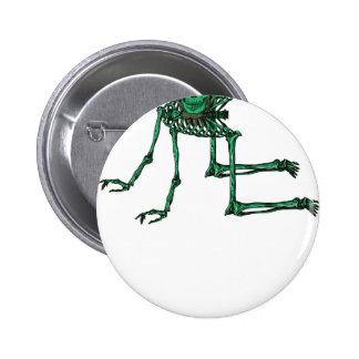 Skeleton Creepy Yoga Skull Dancing Pinback Button