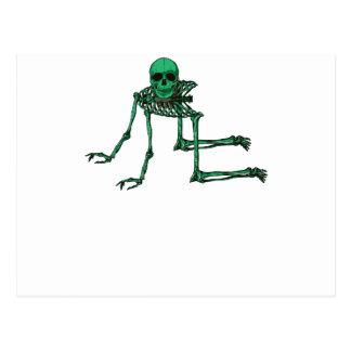 Skeleton Creepy Yoga Skull Dancing Postcard
