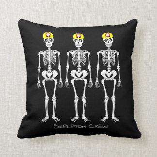 Skeleton Crew Throw Pillow