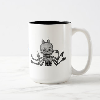 Skeleton Cup with Logo Two-Tone Coffee Mug