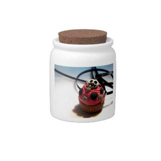 Skeleton Cupcake Candy Jars