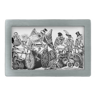 Skeleton Cyclists by José Guadalupe Posada Belt Buckle