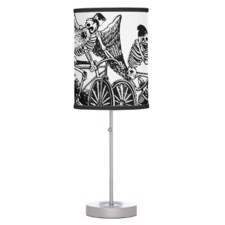 Skeleton Cyclists by José Guadalupe Posada Desk Lamps