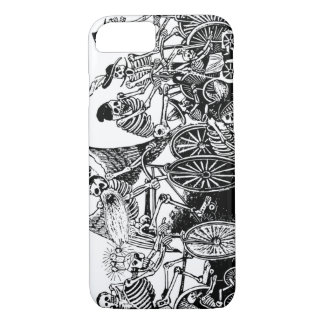 Skeleton Cyclists by José Guadalupe Posada iPhone 8/7 Case