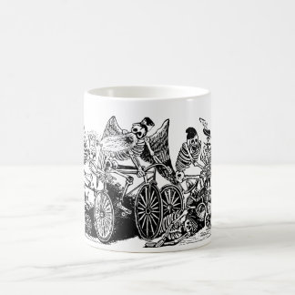 Skeleton Cyclists by José Guadalupe Posada Mugs