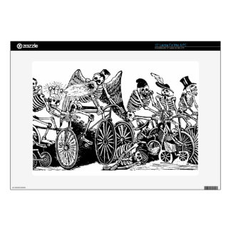 Skeleton Cyclists by José Guadalupe Posada Laptop Decal