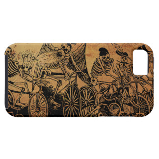 Skeleton Cyclists by José Posada aged paper iPhone 5 Cases
