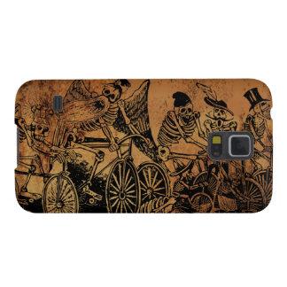 Skeleton Cyclists by José Posada aged paper Galaxy Nexus Covers