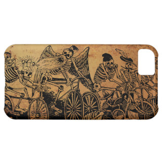 Skeleton Cyclists by José Posada aged paper Case For iPhone 5C