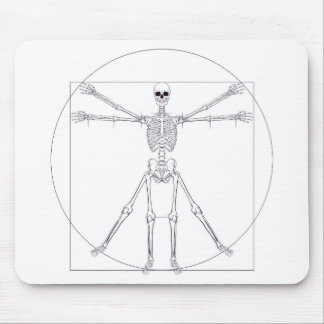 Skeleton Da Vinci Vitruvian Man Mouse Pad
