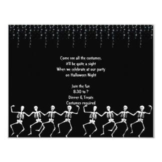 Skeleton Dance Party Halloween Invitations