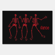 Skeleton Dance Yard Sign