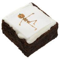 Skeleton Dancer Square Brownie