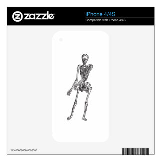 Skeleton Decal For iPhone 4S