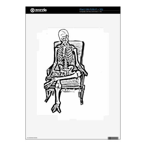 Skeleton Decals For iPad 2