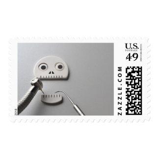 Skeleton Dental Treatment Postage Stamp