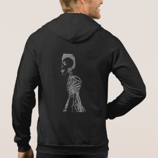 Skeleton Design Vest Hoodie