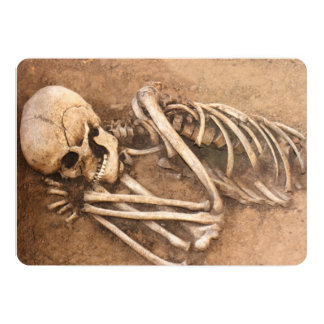 Skeleton Dirt Nap Card
