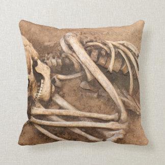 Skeleton Dirt Nap Throw Pillow