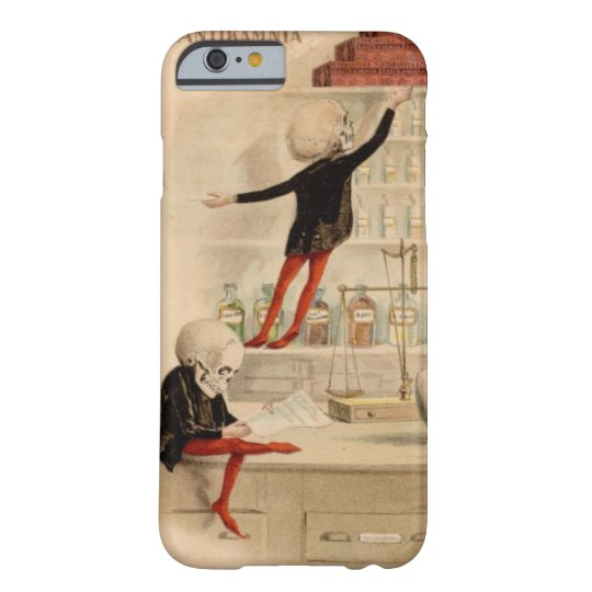 Skeleton Doctor Pharmacist Medical Art iPhone 6 ca Barely There iPhone 6 Case