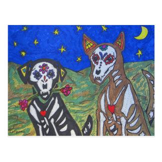 Skeleton Dogs Postcard