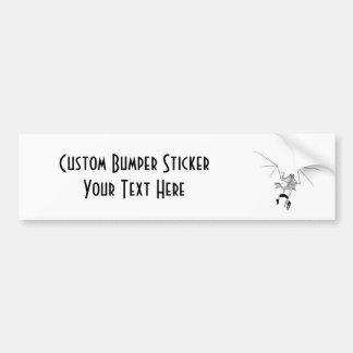 Skeleton Dragon With Victim Hostage Car Bumper Sticker