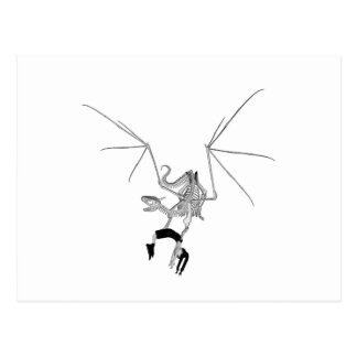 Skeleton Dragon With Victim Hostage Postcard