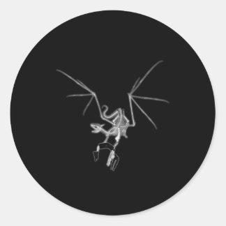 Skeleton Dragon With Victim Hostage Sticker