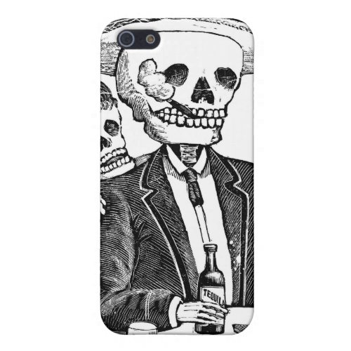 Skeleton Drinking Tequila and Smoking iPhone SE55s Case