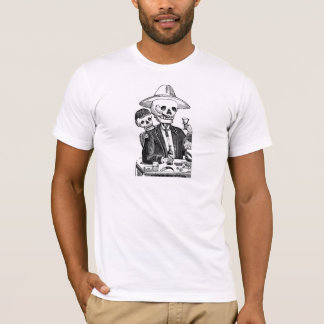 Skeleton Drinking Tequila and Smoking T-Shirt