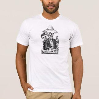 Skeleton Drinking Tequila and Smoking T-Shirt