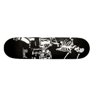skeleton drum skate skateboard