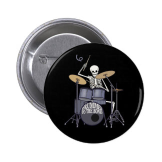 Skeleton Drummer 2 Inch Round Button